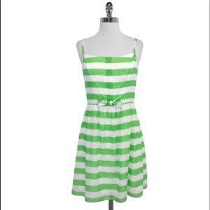 Lilly Pulitzer-Green Striped Spaghetti Strap Dress